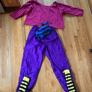 80s aerobics workout costume